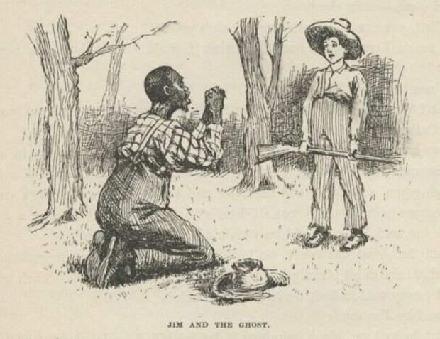 Иллюстрации из книги Приключения Гекльберри Финна. \ Фото: impiousdigest.com.