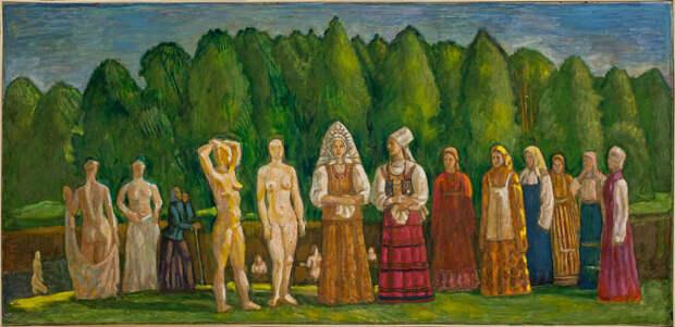 Обнаженная натура в изобразительном искусстве разных стран. Часть 166.