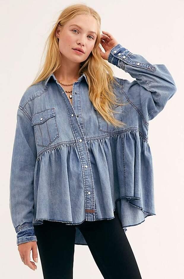 переделка большой блузки или рубашки