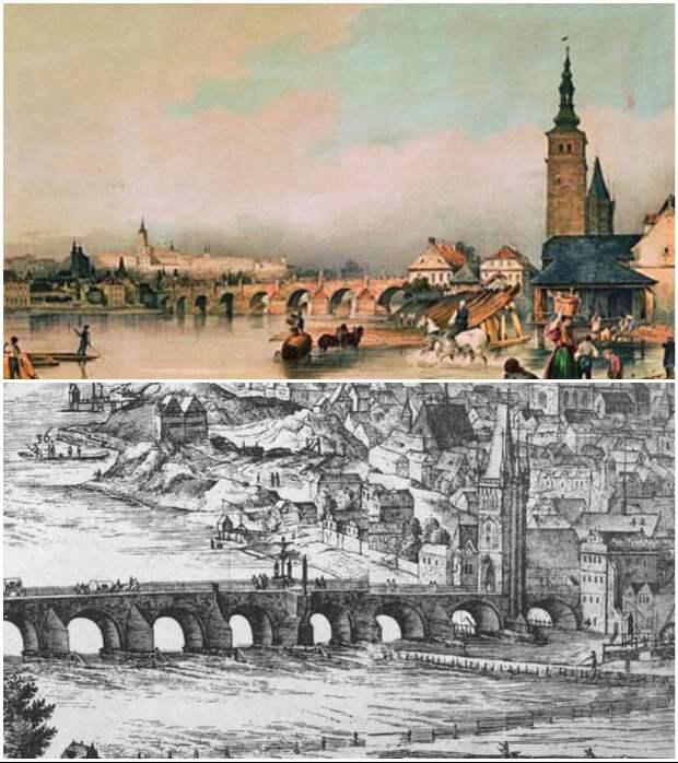 Вот уже 600 лет Карлов мост является главной связующей артерией через реку Влтаву (Прага, Чехия).