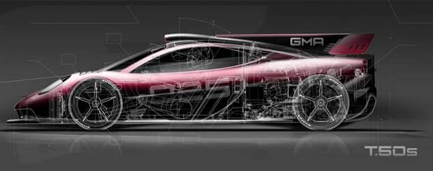 Фокус от гениального конструктора: Gordon Murray T.50s сможет ездить по потолку