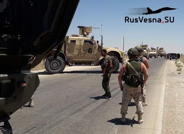 СРОЧНО: Российские военные блокировали колонну армии США (ВИДЕО)