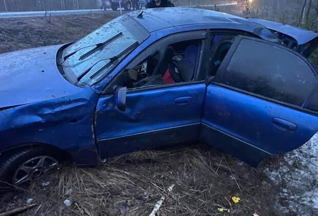 Перевозивший трех детей пьяный водитель легковушки устроил ДТП под Воткинском