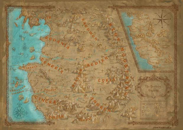 3. Мир «Ведьмака». Несуществующие миры, карты, фэнтези