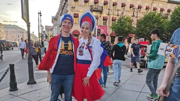 """Болельщики матча """"Россия - Бельгия"""""""