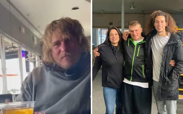 Парень помог бездомному начать новую жизнь, оплатив ему курс реабилитации