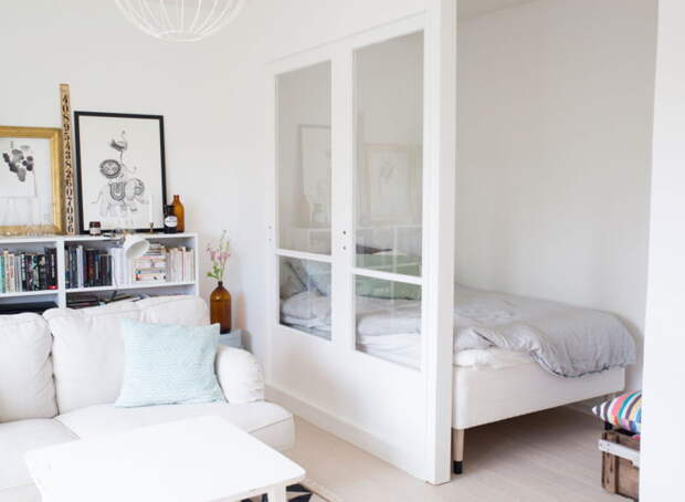 Отличные способы попытаться разместить кровать в однушке
