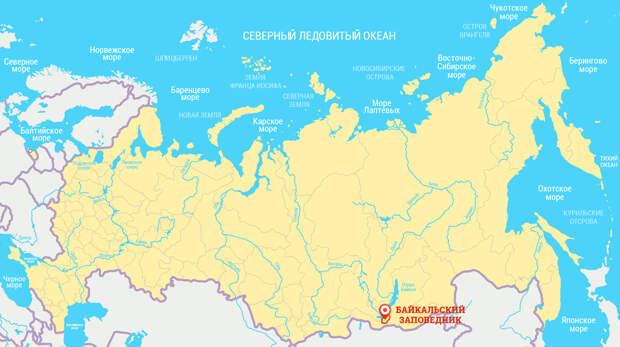байкальский заповедник карта
