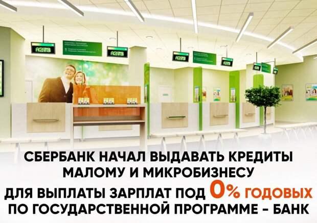 Крупнейшие банки страны разработали программу по беспроцентному кредитованию малого бизнеса для выдачи зарплаты сотрудникам