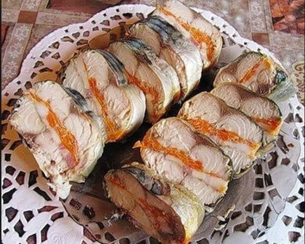 Рулет-колбаса из Скумбрии. Лучшая рыбная закуска, вкусно и красиво на столе и на бутерброде!