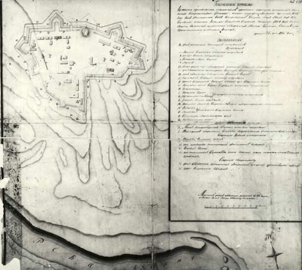 Схема крепости Прочный Окоп.