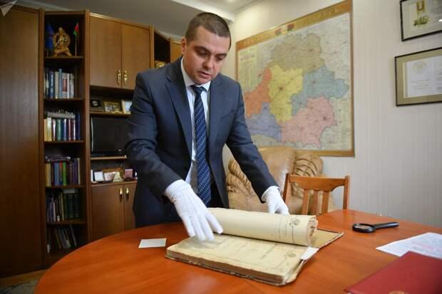 Директор Национального исторического архива Дмитрий Яцевич
