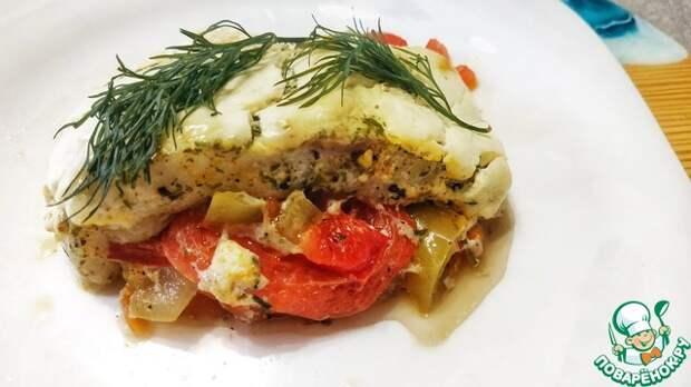 Филе пангасиуса в духовке с овощами