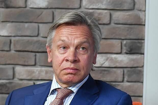 Пушков посмеялся над претензиями Зеленского к Байдену из-за СП-2