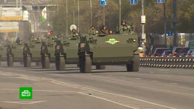 На генеральную репетицию парада Победы в центр Москвы стягивают военную технику