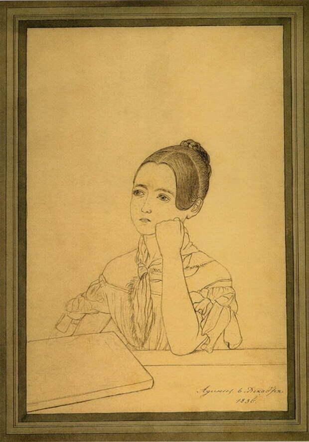 Адини. 6 декабря 1836. Автопортрет