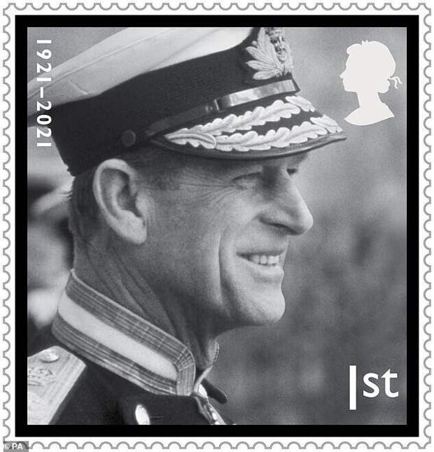 На этой марке - портрет принца во время парада в военно-морском колледже принца Эндрю, 1981 год