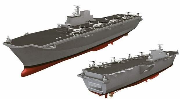Проект перспективного универсального десантного корабля для Военно-морских Сил Японии