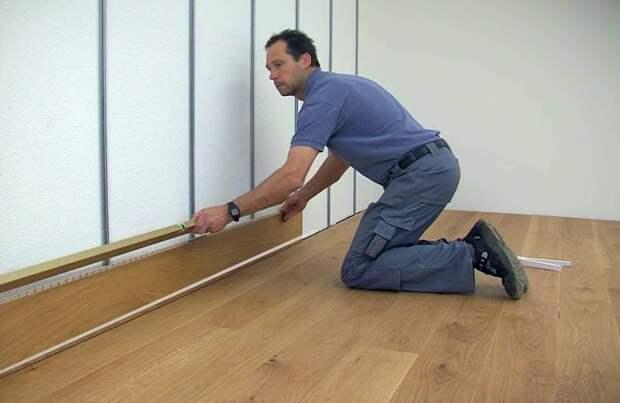 Как крепить ламинат на стену