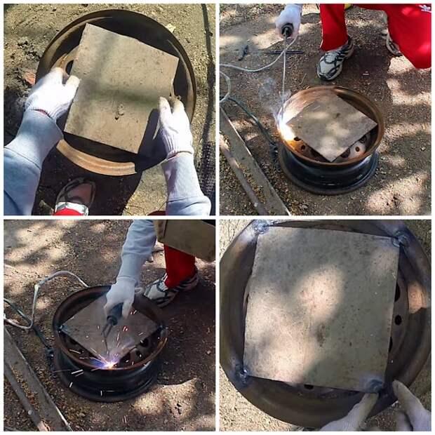 Мангал из дисков автомобиля. Изготовление мангала для шашлыков своими руками
