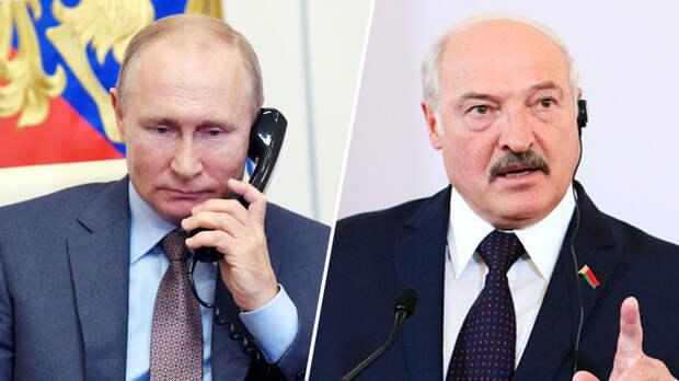 Путин и Лукашенко обсудили ситуацию на Украине