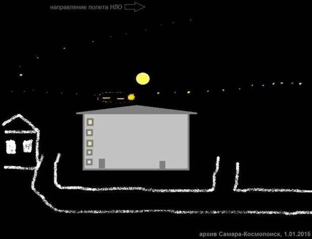 Над Жигулевскими горами наблюдали НЛО