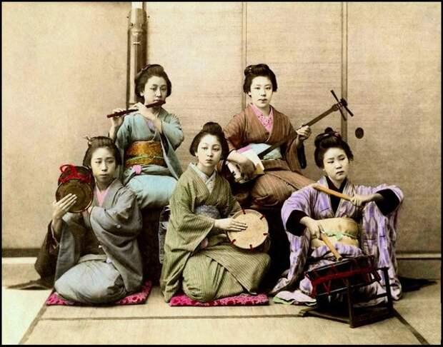 Японские девушки. Фото конца 19 века