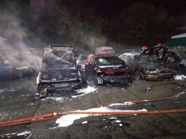В Польше мститель с огнеметом поджег 18 машин и автомастерскую. Владелец назвал причину