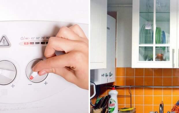 Как вписать газовый котел в кухонный интерьер