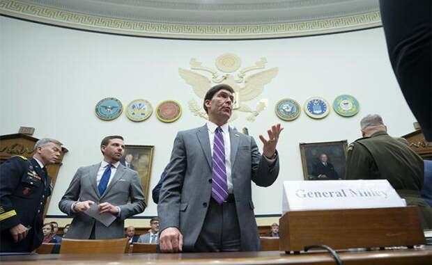 На фото: министр обороны США Марк Т. Эспер