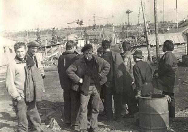 Разнорабочие на совещании. СССР, история, фото