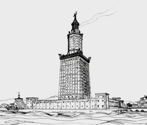 Александрийский маяк фото