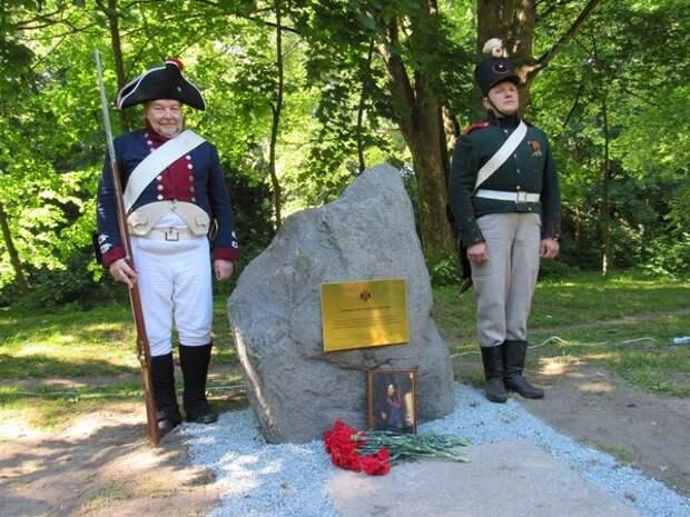 В 2017-м на месте, где отряд генерала Каменского оборонял Кёнигсберг, установили памятный камень.