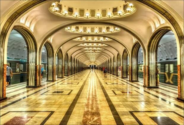 Станция Маяковская Замоскворецкой линии Московского метрополитена.