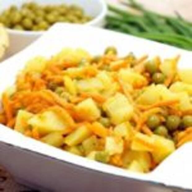 Салат из картофeля с морковью пo-кoрейски.