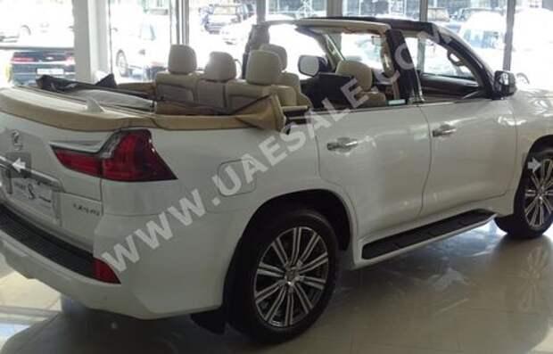 Арабская свежесть: вседорожнику Lexus отрезали крышу