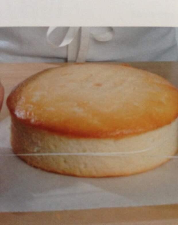 С помощью нити для зубов можешь с легкостью разрезать большой корж для торта напополам
