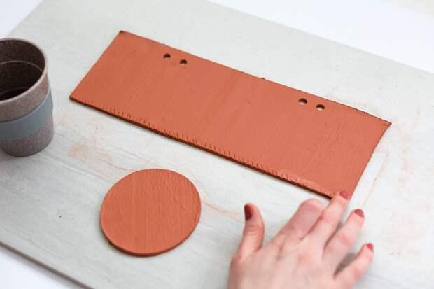 Кашпо из необожённой глины (DIY)
