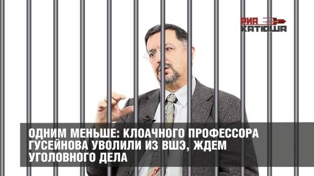 Одним меньше: клоачного профессора Гусейнова уволили из ВШЭ, ждем уголовного дела