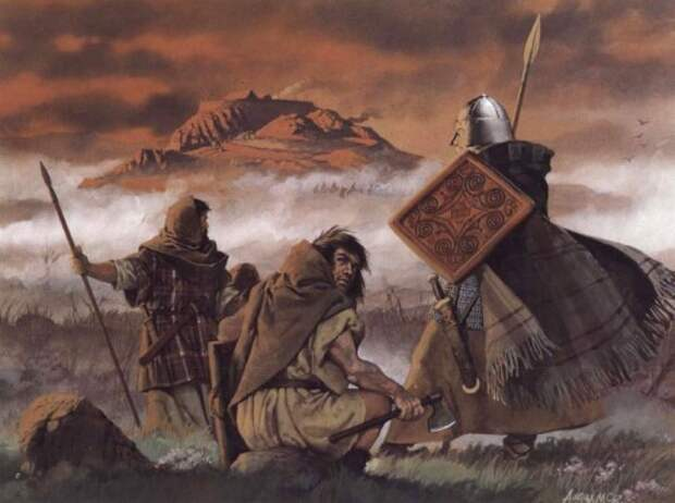Пикты следят за скоттами у Дунадда (VIII в.н.э.)