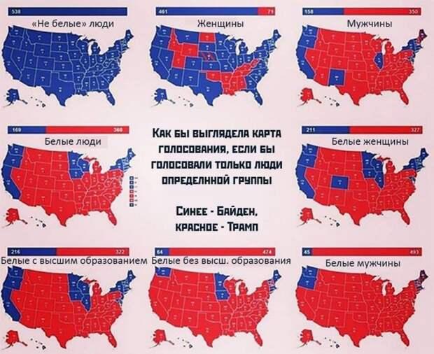 Как бы выглядела карта голосования, если бы голосовали только люди определенной группы