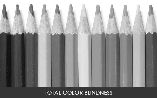 Полная цветовая слепота  дальтонизм, люди, мир