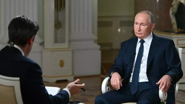 Путин попросил журналиста NBC не «затыкать ему рот» во время интервью