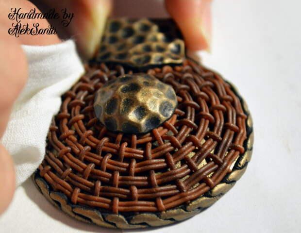 Техника кругового плетения из полимерной глины