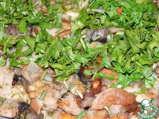 Пшенно-картофельные зразы с грибами