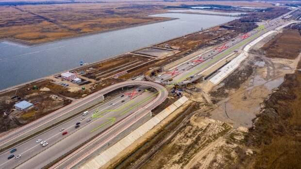Схема движения изменится наюжном подъезде кРостову-на-Дону