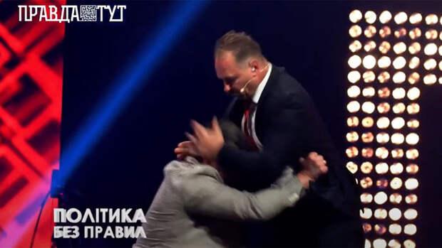 """Депутата """"Слуги народа"""" избили в эфире телевизионного шоу"""