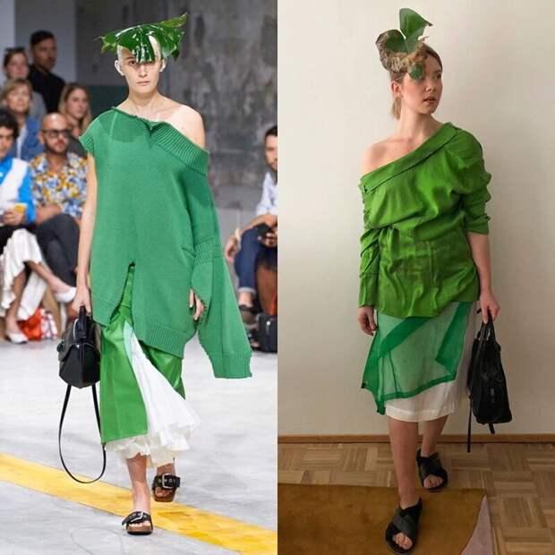 Карантин на стиле: модные образы из подручных материалов