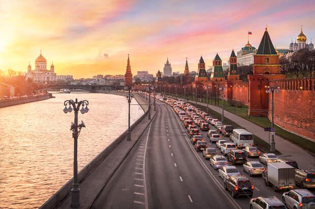 Москва признана городом с самыми большими пробками в мире