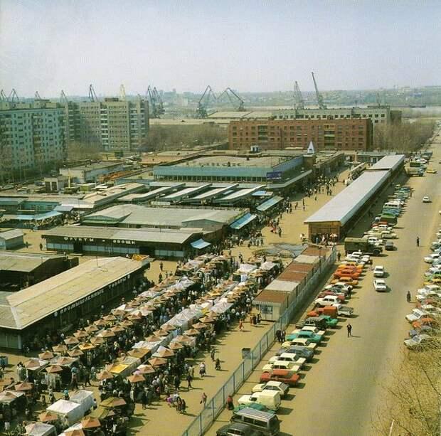 Омск, Ленинский рынок, 1990-е гг.